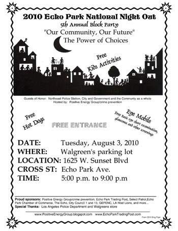 Echo Parks Annual National Night Out Echo Park Now