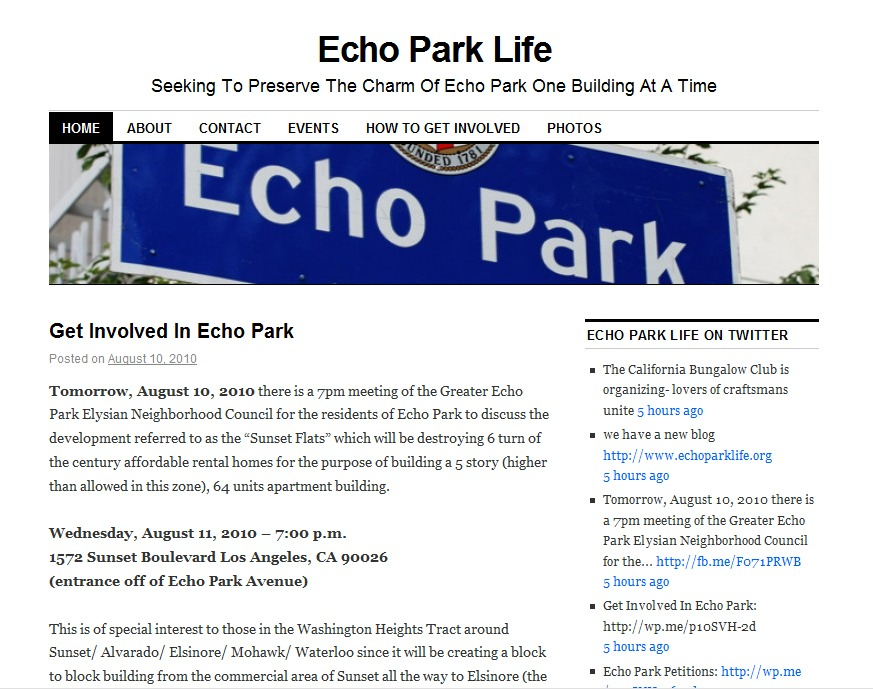 I Recently Met A Couple Of The Echo Park Residents Behind New Blog Community Organizers Called Life At Improvement Association