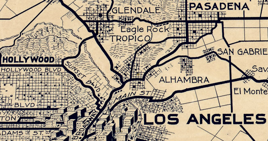 Zooming in on Echo Park Early 1900s Los Angeles maps  Echo Park Now