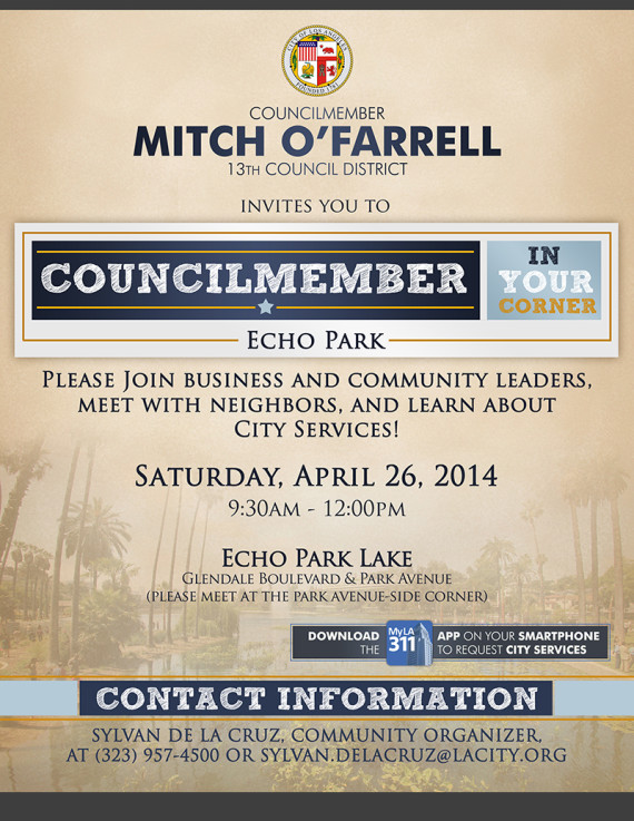 Councilmember In Your Corner - Echo Park web